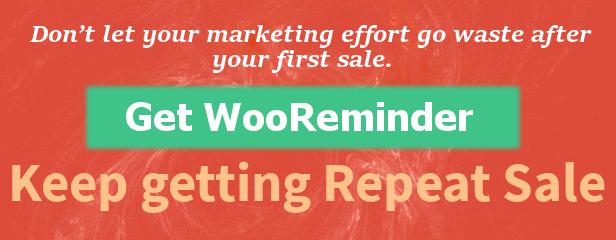 WooReminder - Plug-in de lembrete de pedido de produto para WooCommerce - 1